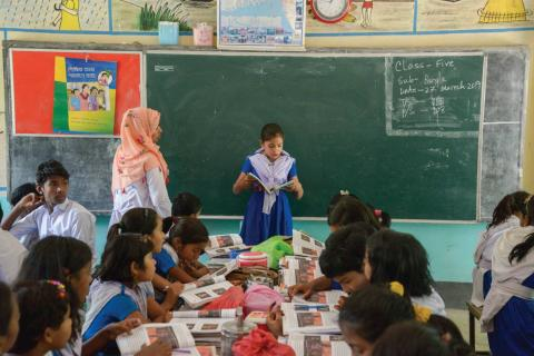Classroom with students