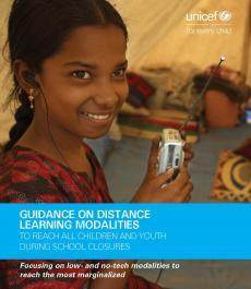 Cover for the Guidance on distance learning modalities report
