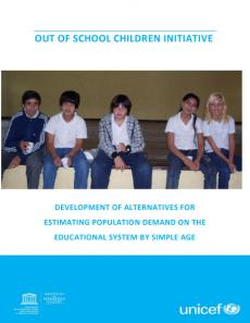 Cover image for the development of alternatives for estimating population demand on the educational system report