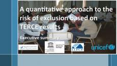 Cover image for the risk of exclusion based on TERCE results reports